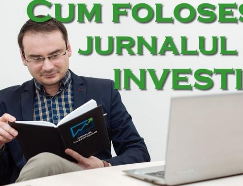 Cum folosești jurnalul de investiții?
