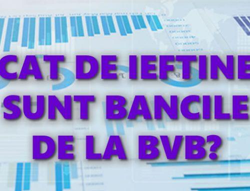 Cat de ieftine sunt bancile listate la BVB?